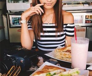 food, girl, and style image