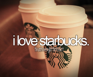 starbucks, love, and coffee image