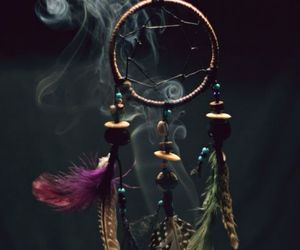 Dream, dreamcatcher, and smoke image