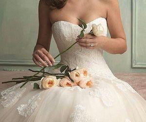 dress, flowers, and beautiful image