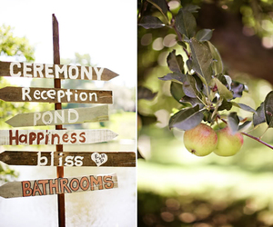apple, signs, and wedding image