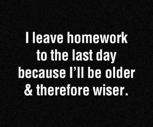 quote, homework, and funny image