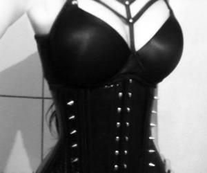 black, corset, and gothic image