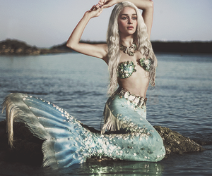 mermaid, sea, and game of thrones image