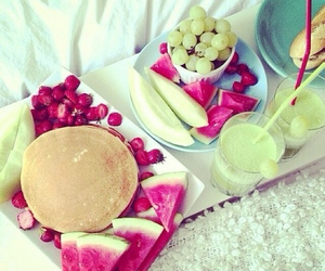 breakfast, cake, and FRUiTS image