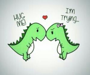 dinosaurs, cute, and love image