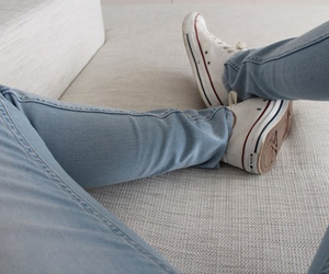 blue, converse, and jeans image