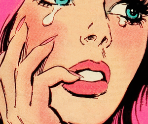 cry, pink, and pop art image