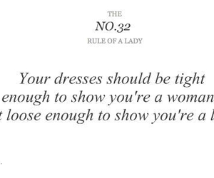 lady, rules, and dress image