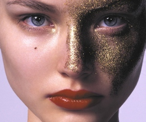 glitter, model, and gold image