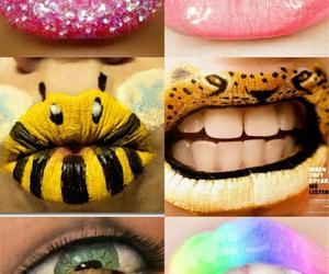 lips, creative, and makeup image