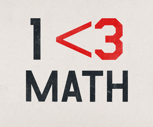 heart, maths, and i love image