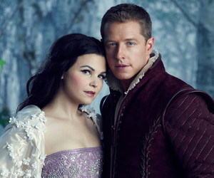 once upon a time, prince charming, and snow white image