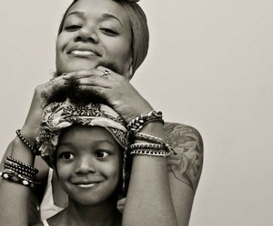 mother, daughter, and smile image