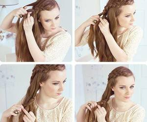 beauty, style, and trenzas image