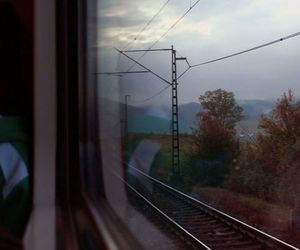 train, travel, and sky image