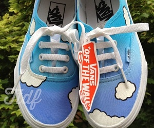 vans, clouds, and shoes image