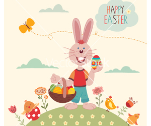 bird, bunny, and easter image