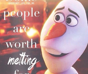 frozen, olaf, and quote image