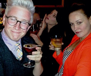 mamrie hart, dad, and tyler oakley image