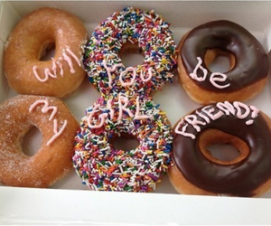 donuts, food, and girlfriend image