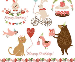 animal, cake, and party image