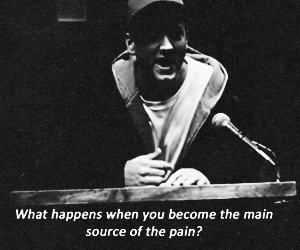 eminem, pain, and quote image