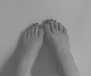 black and white, feet, and cute image