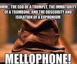 band, harry potter, and mellophone image