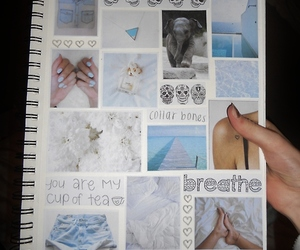 notebook, tumblr, and blue image