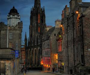 dusk, edinburgh, and scotland image