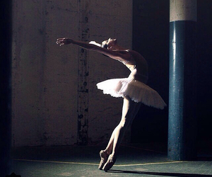 pointe, white, and ballet image