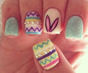 nails, easter, and manicure image