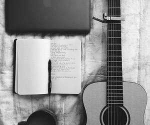 guitar, music, and book image