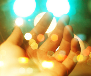 colors, hand, and light image
