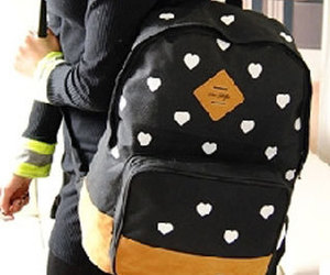 backpack, bag, and heart image