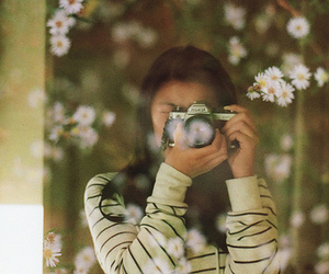 camera, girl, and film image