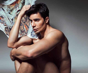 editorial, male, and fabric image