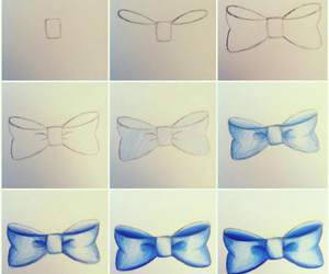 drawing, bow, and diy image