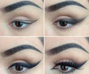 eyeliner, makeup, and wing image