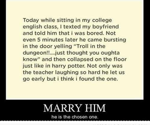 harry potter, funny, and boyfriend image