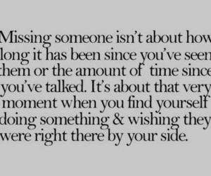 love, missing, and quote image