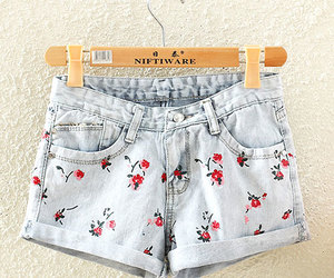 floral pants, short pants, and cutoff shorts image