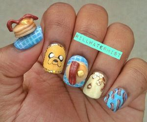 nail art and adventure time image