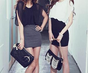 fashion, skinny, and purse image