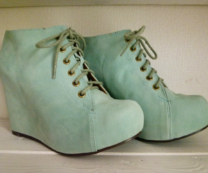 shoes, blue, and green image