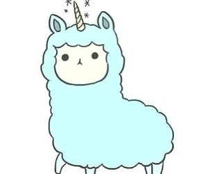 unicorn, blue, and llama image