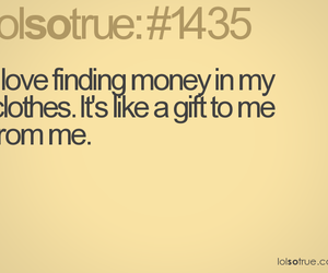 funny, gift, and money image