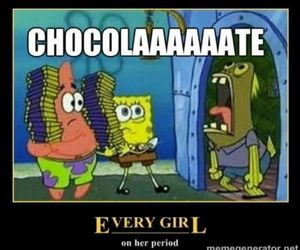 chocolate, funny, and girls image