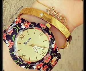 bracelet, floral, and girly image